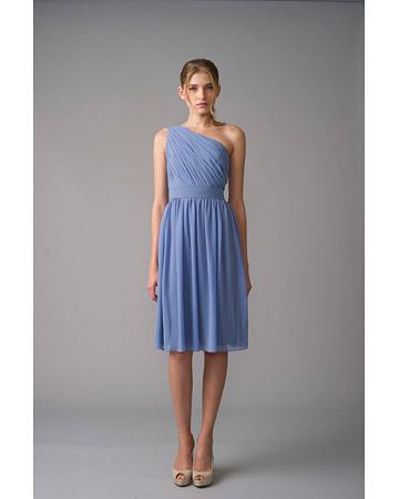 blå klänning bröllop