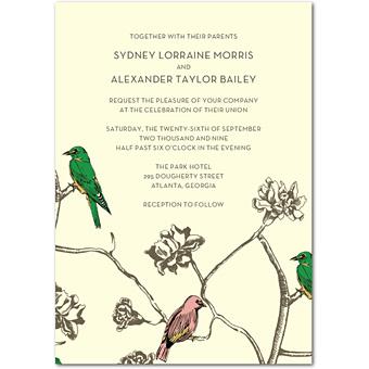 Inbjudan från Wedding Paper Divas
