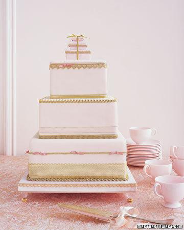 Bröllopstårta från Martha Stewart Weddings