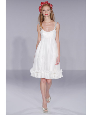 Kort brudklänning